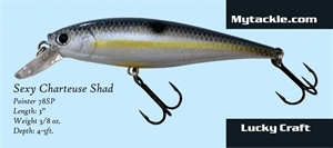 Picture of Kevin VanDam KVD Rattling Square Bill - Chartreuse Sexy Shad