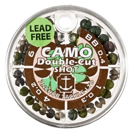 Picture of Anchor Non-Toxic Camo Double-Cut Split Shot - Small 4-Compartment