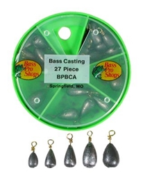 Picture of Bass Pro Shops 27-Piece Bass Casting Sinker Assortment